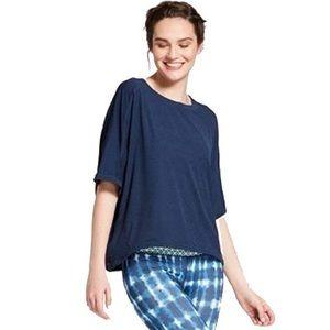 JOYLAB Navy Boxy Tee Shirt w/ drawstring pulls